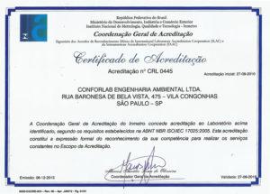 Certificado Conforlab INMETRO-2